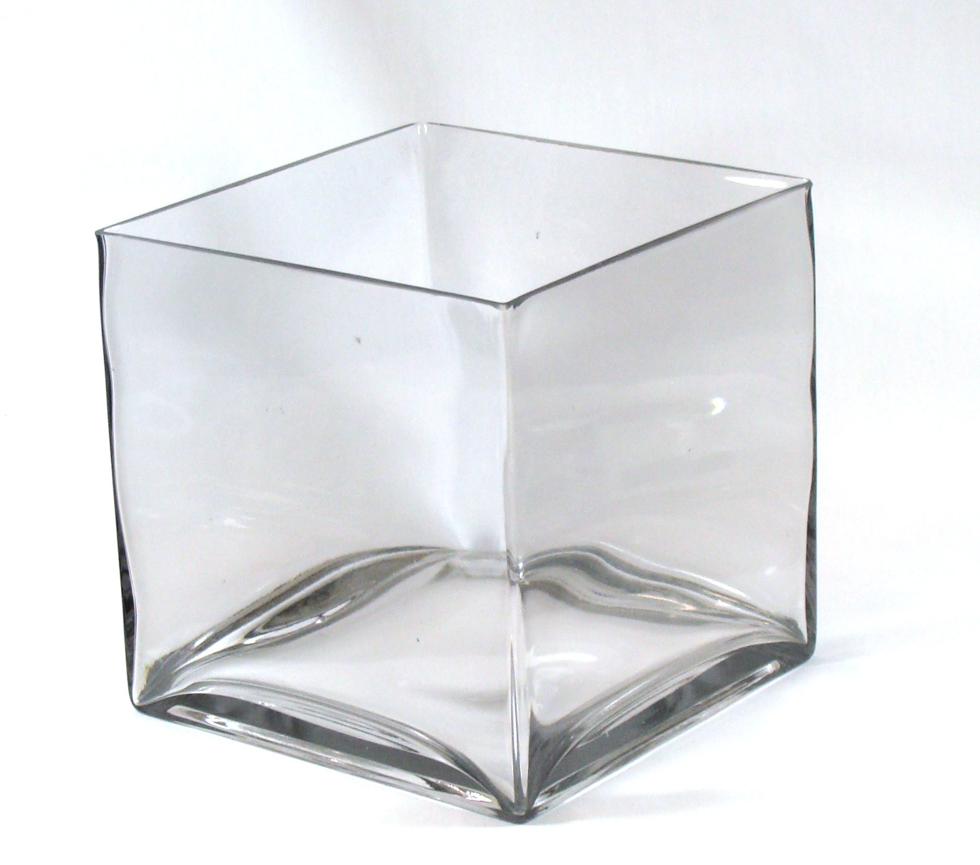 extra large round glass vase of buy 8 inch round large glass vase 8 clear cylinder oversize for 8 square large glass vase 8 inch clear cube oversize centerpiece 8x8x8 candleholder
