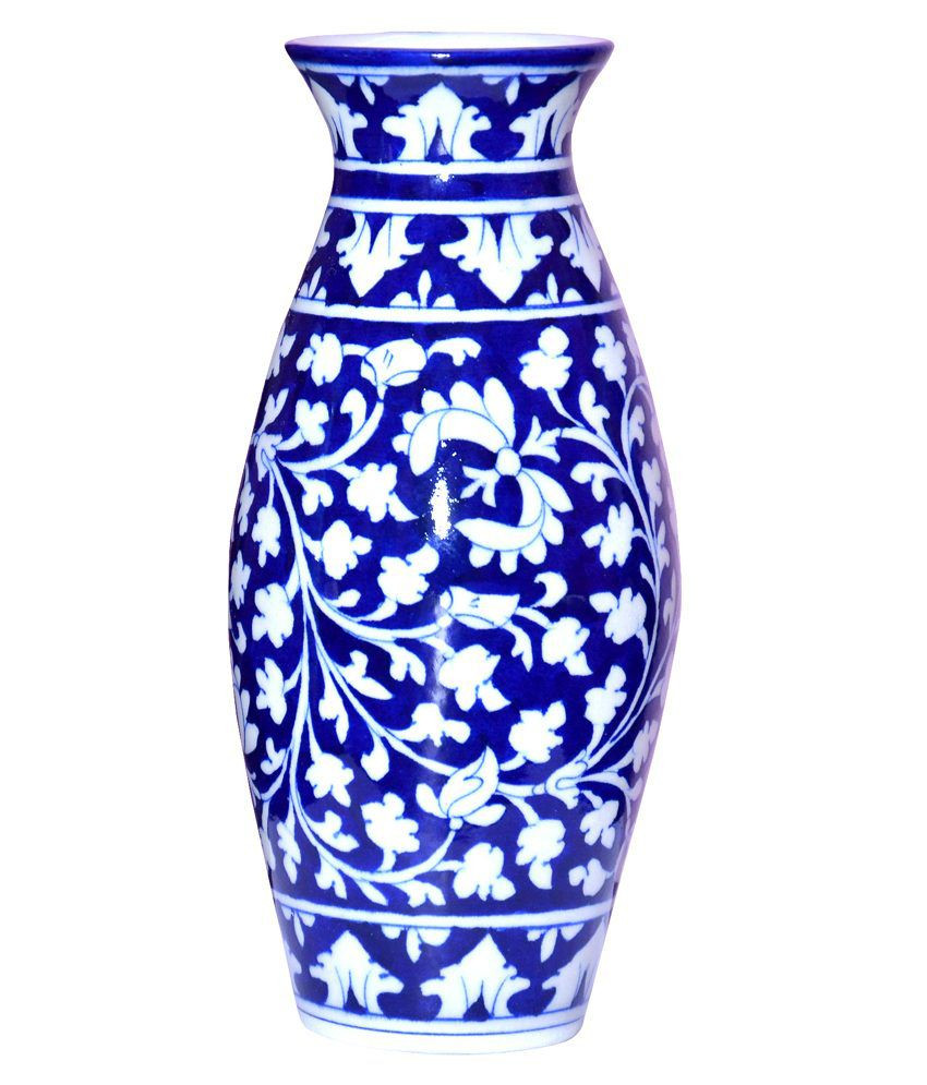 face vases for sale of vaah jaipur blue pottery vase 10 inches buy vaah jaipur blue intended for vaah jaipur blue pottery vase 10 inches