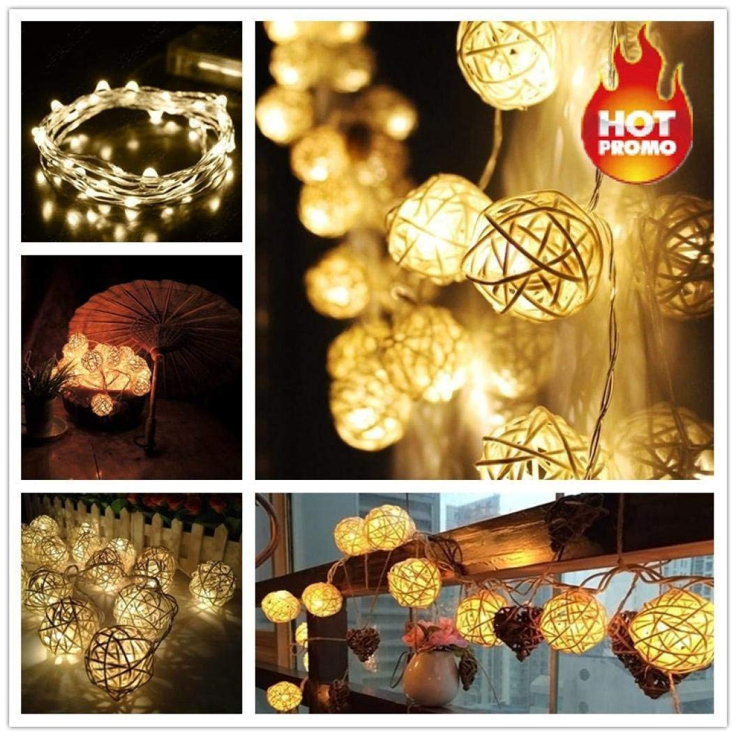 fairy nest led vase lights of amazon com liping 20 led color rattan ball string fairy lights for regarding amazon com liping 20 led color rattan ball string fairy lights for wedding party hot for christmas party xmas wedding party garden decor white home