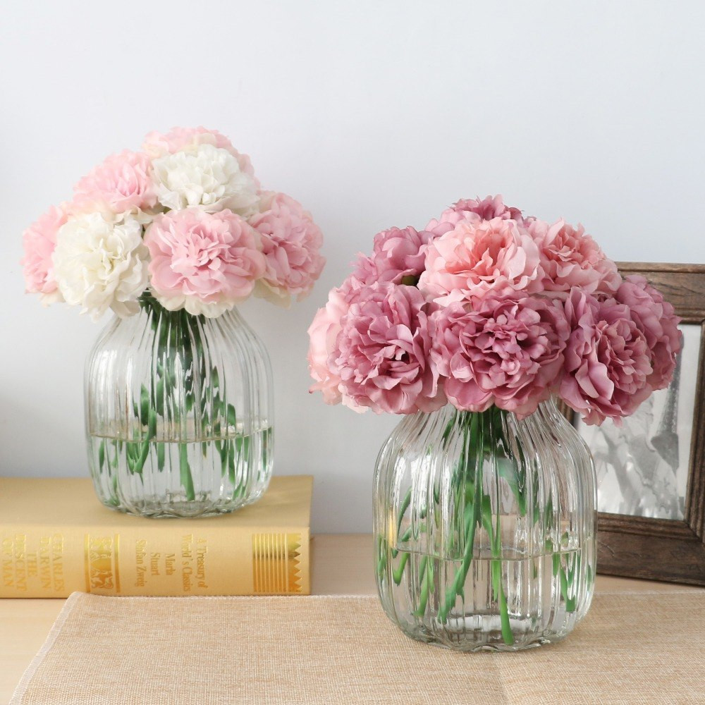 fake pink peonies in vase of aliexpress com buy 10pcs cute silk artificial flowers cheap intended for aliexpress com buy 10pcs cute silk artificial flowers cheap hydrangeas peony flower silk bouquet artificial flowers for decoration wholesale from reliable