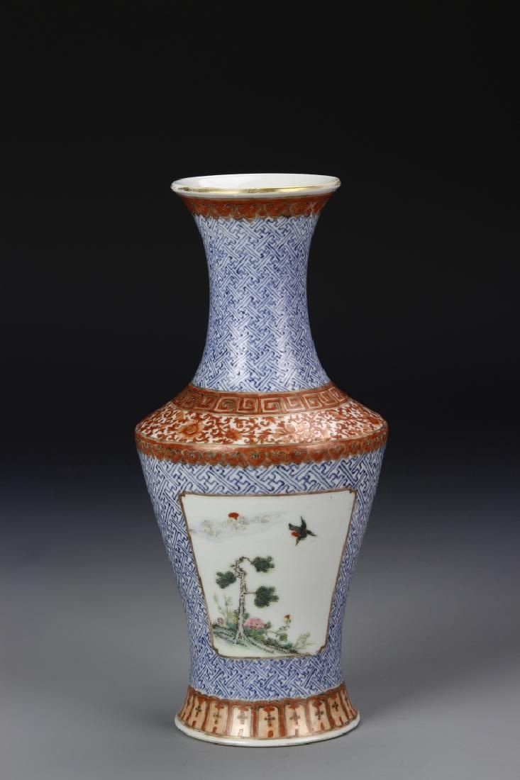 Famille Rose Porcelain Vase Of Chinese Famille Rose Vase Lot 0027 China Qing Dynasty Famille with Regard to Chinese Famille Rose Vase Lot 0027 China Qing Dynasty Famille Rose Vase