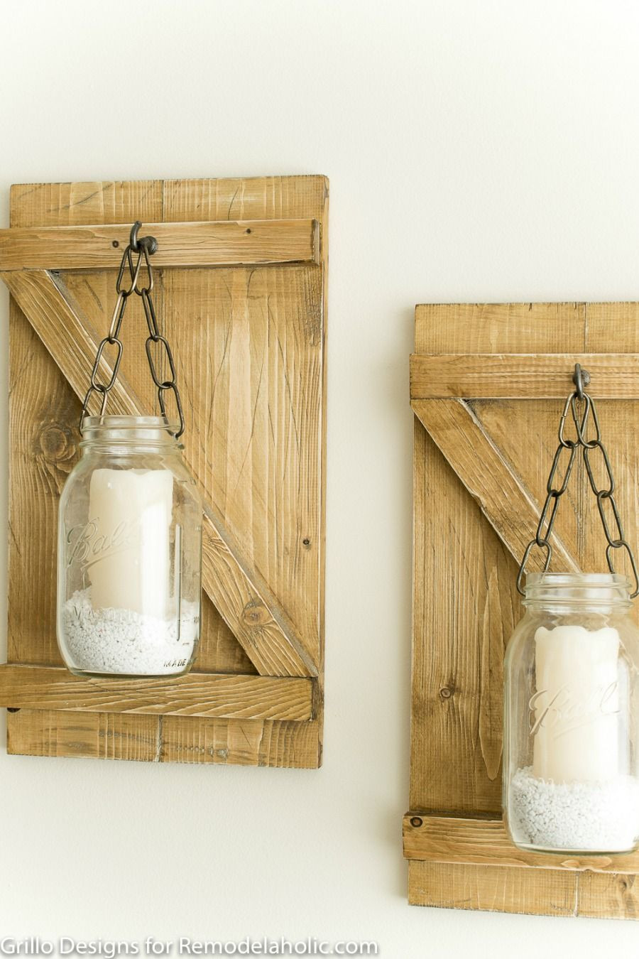 farmhouse glass vase of weathered wood mason jar candle hangers how to make a rustic in weathered wood mason jar candle hangers how to make a rustic hanging mason jar candle