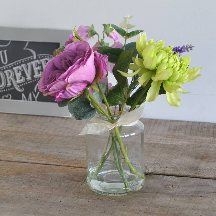 faux flower arrangements in vase of purple rose artificial bouquet in vase by abigail bryans designs with purple rose artificial bouquet in vase
