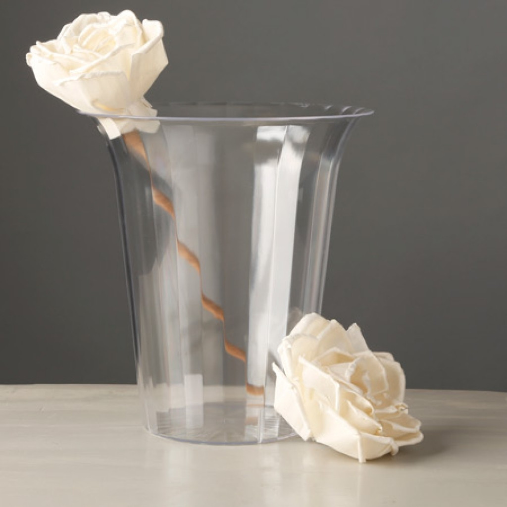 Faux White Hydrangea Arrangement In Glass Vase Of Gold Tall Vases Pictures 8682h Vases Plastic Pedestal Vase Glass Throughout 8682h Vases Plastic Pedestal Vase Glass Bowl Goldi 0d Gold Floral