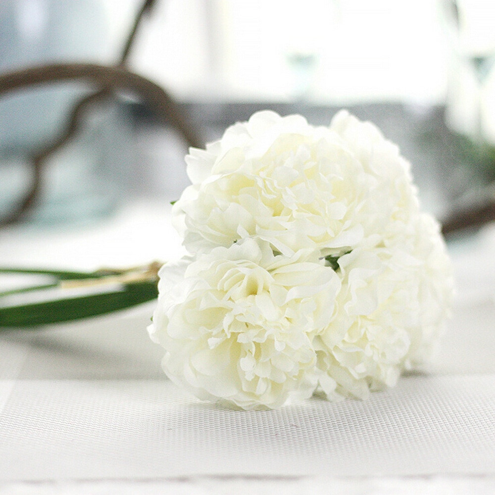 faux white peonies in vase of aliexpress com buy 1 bouquet 5 heads peony flower artificial silk within aliexpress com buy 1 bouquet 5 heads peony flower artificial silk fake peony floral wedding bridal bouquet christmas 2017wedding home decoration from
