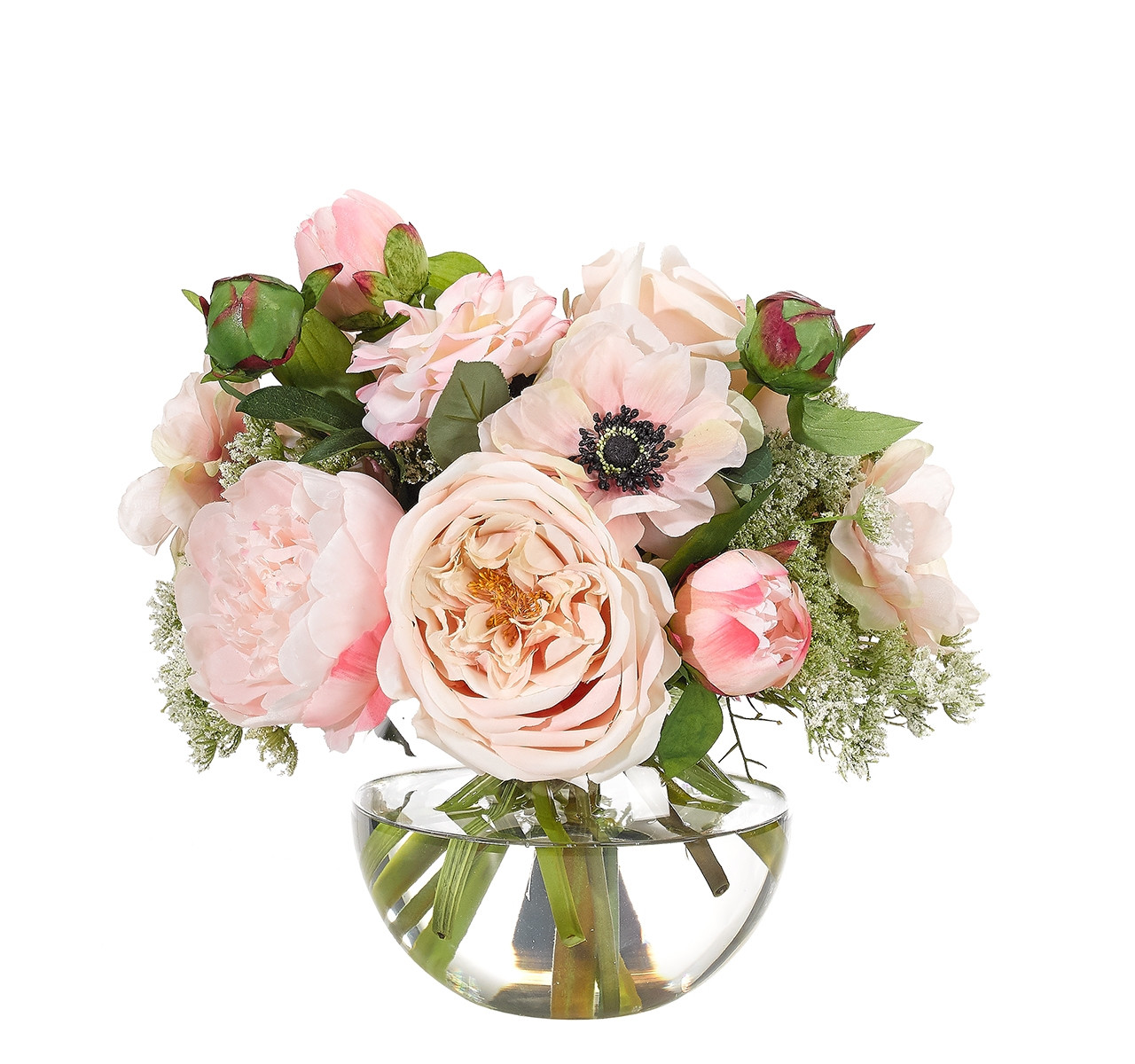 fd1 florist designed bouquet in a vase of ndi faux florals and botanicals throughout custom orders