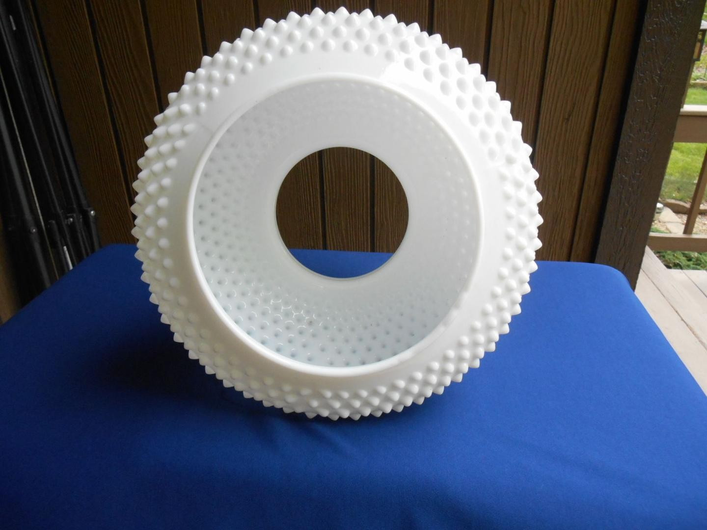 fenton art glass vases of fenton art glass white hobnail lamp shade large 1867990442 intended for next