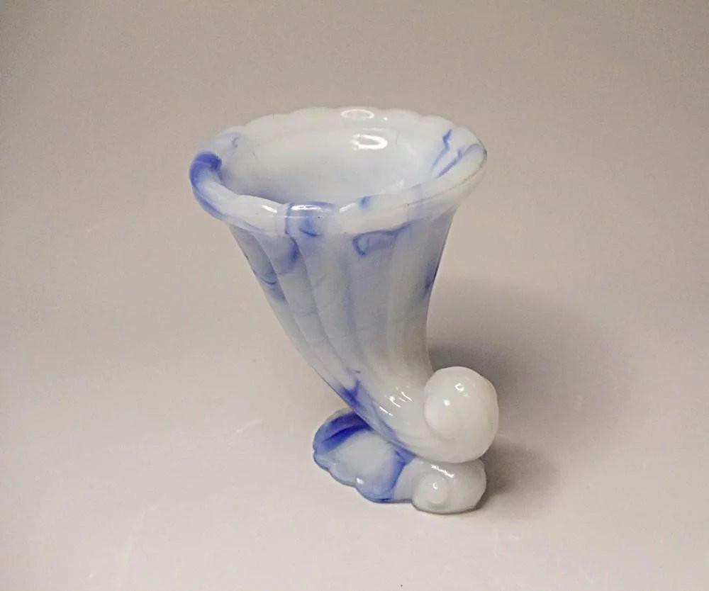 15 Nice Fenton Blue Milk Glass Vase