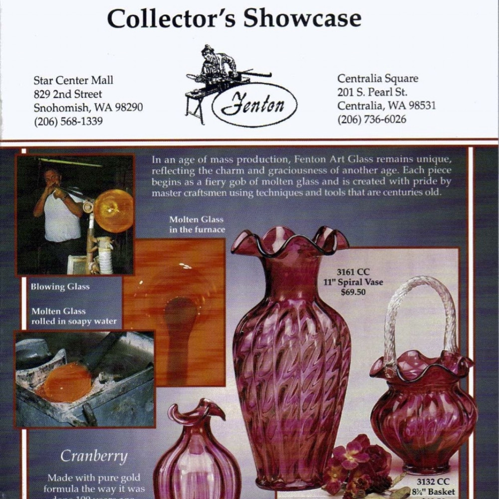 fenton glass vase hand painted of fenton catalogs 90s sgs with regard to 1994 dealers catalog