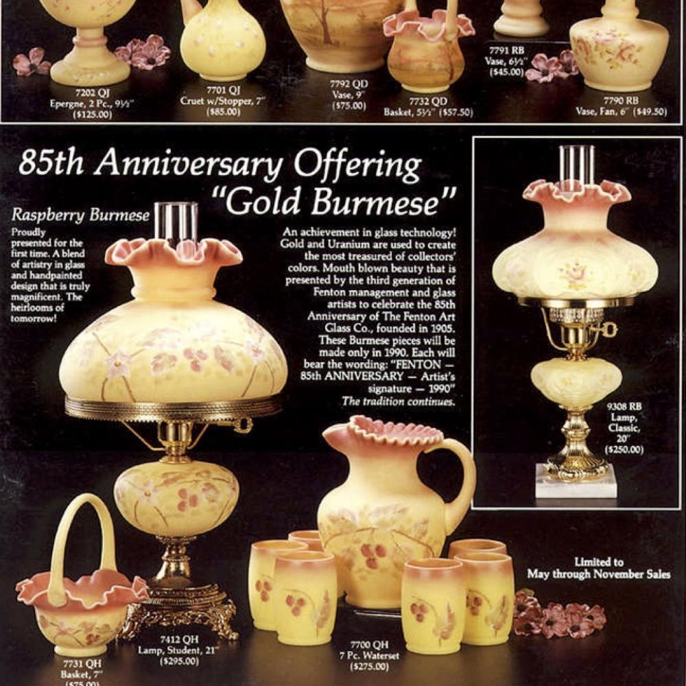 fenton hobnail bud vase of draft fenton catalogs 90s sgs throughout 1990 candle land june