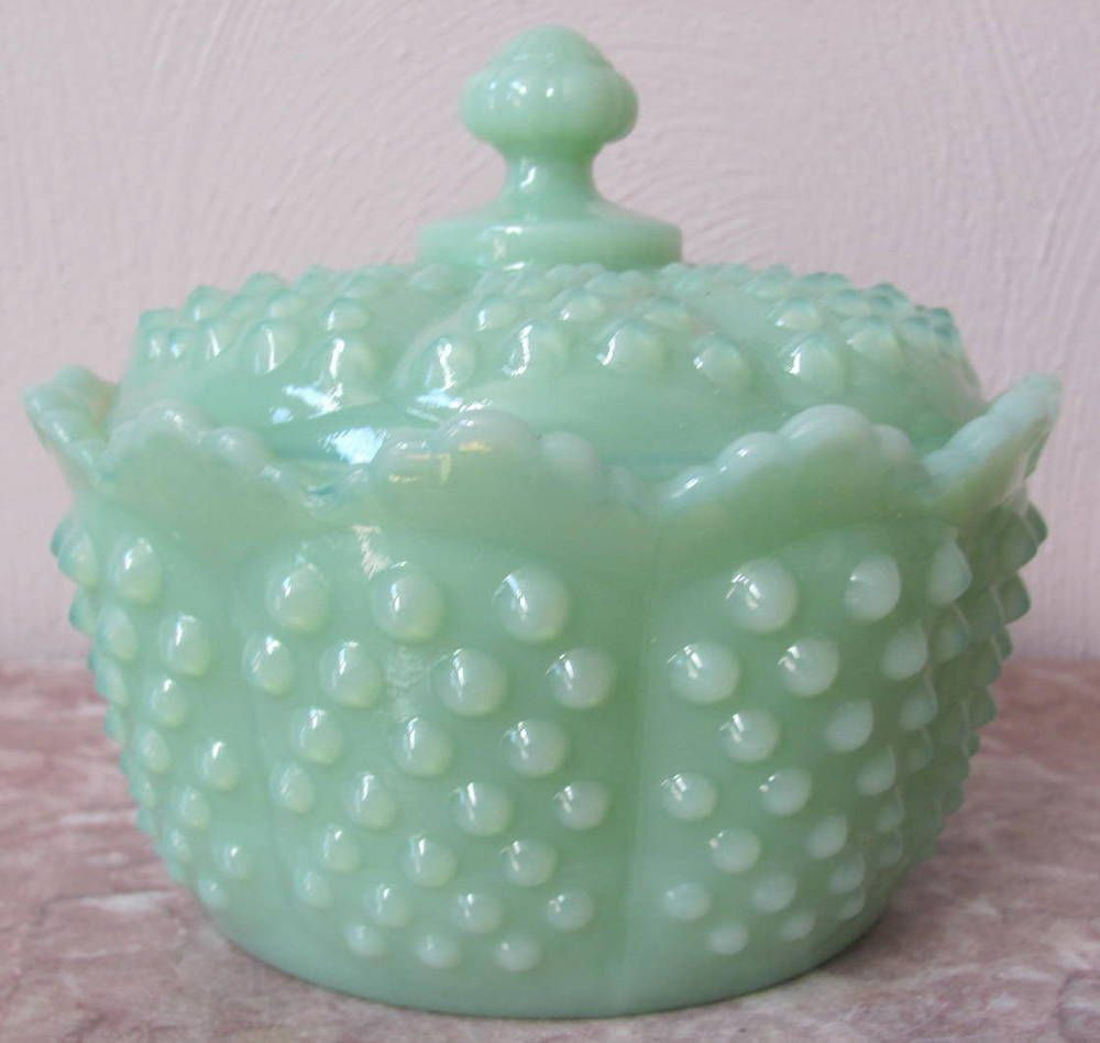Fenton Opalescent Hobnail Vase Of Covered Bowl Hobnail Jade Jadite Jadeite Green Glass Mosser Usa Intended for Covered Bowl Hobnail Jade Jadite Jadeite Green Glass Mosser Usa Mosser