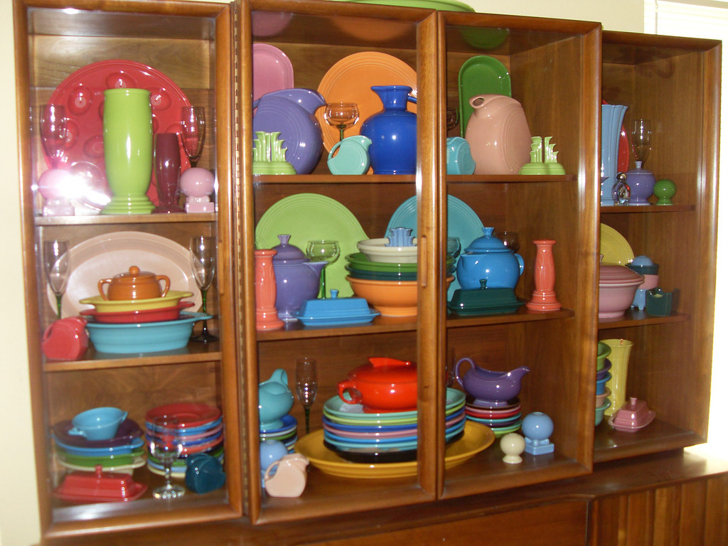fiestaware millennium vase of moved some fiesta overflow into the china cabinet finally flickr with moved some fiesta overflow into the china cabinet by dumblady