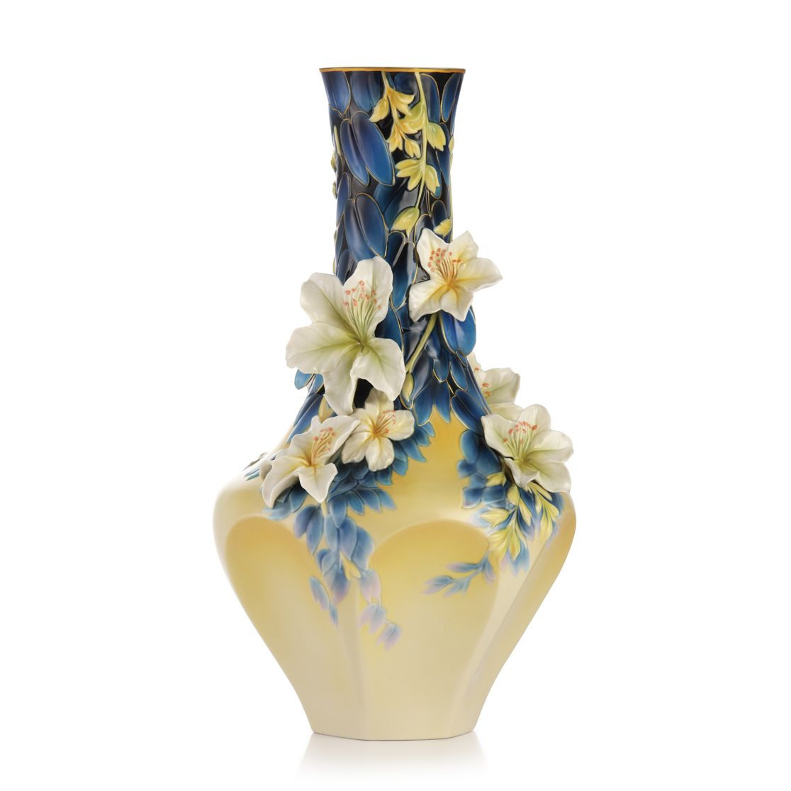 Fine China Vase Of Franz Collection Porcelain Hong Kong orchid Tree Vase Limited for Franz Collection Porcelain Hong Kong orchid Tree Vase Limited Edition 2000