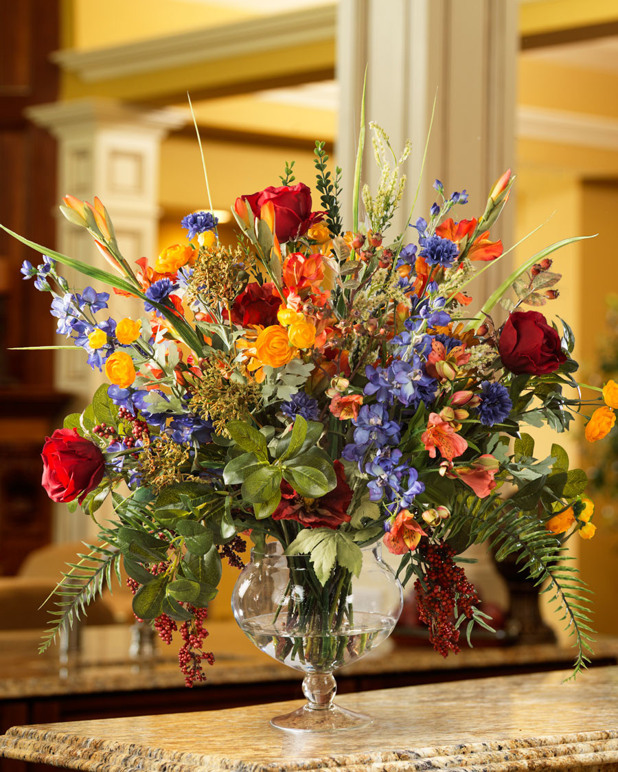 Fish In Vase Of Gl Fish Bowl Flower Arrangements Flowers Healthy Inside Large Silk Flower Arrangements for Office and Home Interiors at