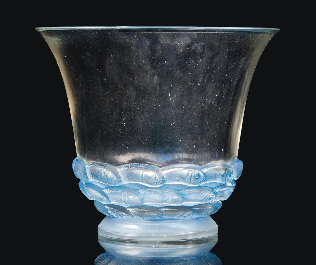flared glass vase of monaco vase no 1049 designed 1930 clear frosted and blue stained intended for monaco vase no 1049 designed 1930 clear frosted and blue stained stencilled