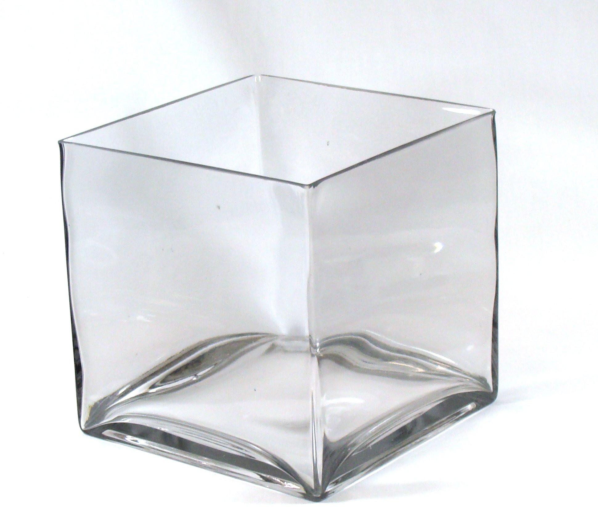 flat round glass vase of buy 8 inch round large glass vase 8 clear cylinder oversize regarding 8 square large glass vase 8 inch clear cube oversize centerpiece 8x8x8 candleholder
