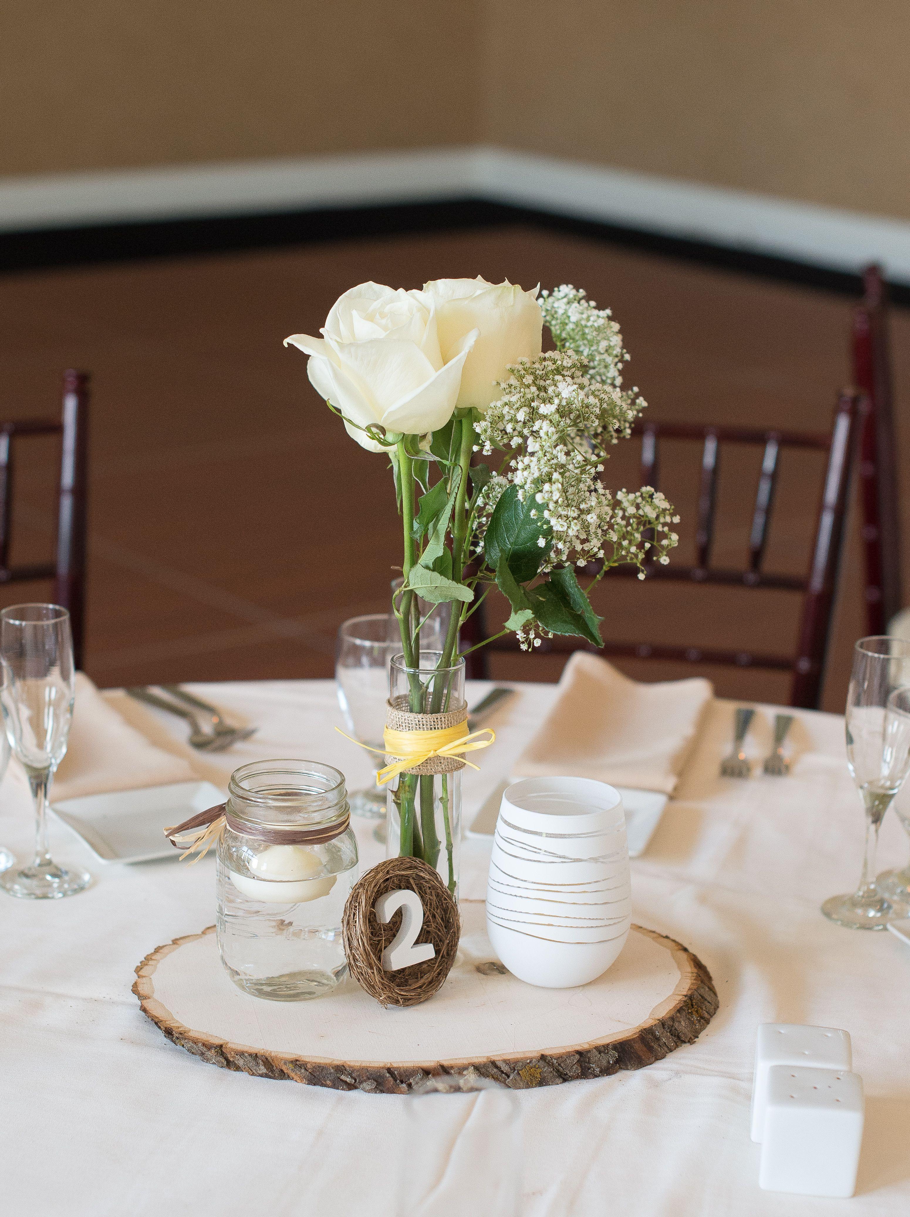 floating candle vases uk of yellow and gray wedding wedding centerpiece wood platform mason within wood platform mason jar for floating candle tall vase with cream roses and babies breath sh