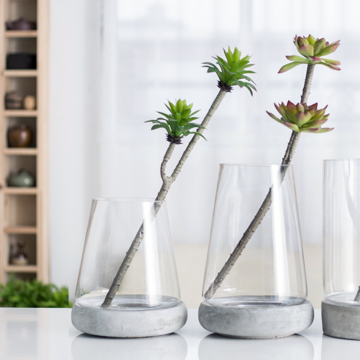 Floral Arrangement In Glass Vase Of Usd 25 42 Sicily Home Cas Series nordic Minimalist Glass Vase within Sicily Home Cas Series nordic Minimalist Glass Vase Cement Underpinning Home Decoration Flower Arrangement