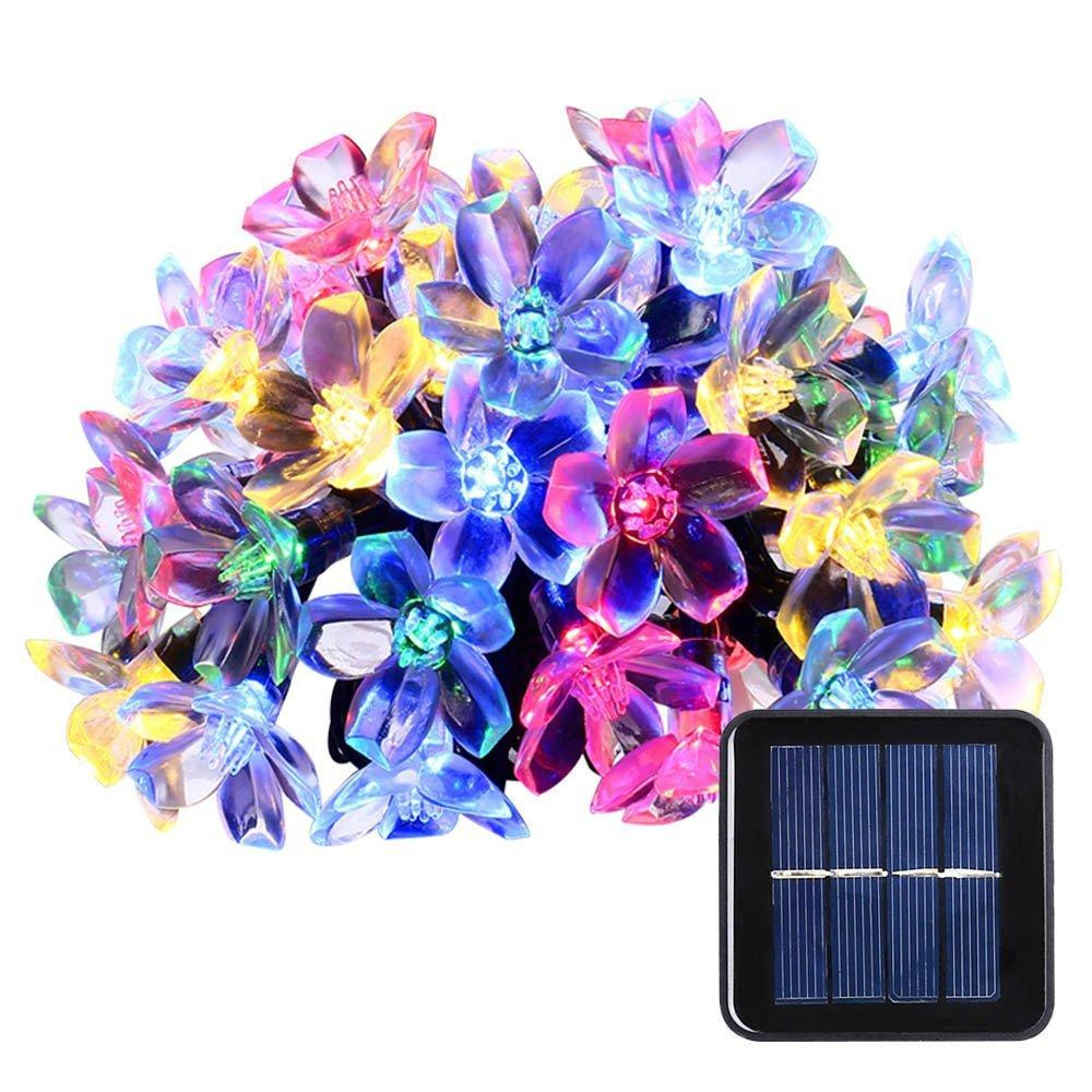 Floralyte Vase Lights Of solar String Lights 50 Led Blossom Flower Fairy Light Christmas for solar String Lights 50 Led Blossom Flower Fairy Light Christmas Lights for Outdoor Led Garland Patio Party Wedding Decoration solar Light solar Powered