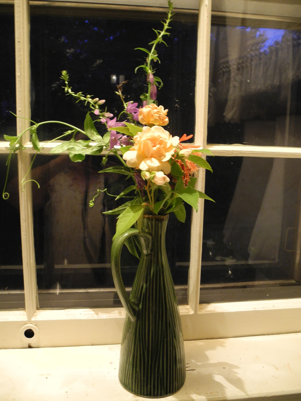 flower arrangements for tall narrow vases of windowsill arranging june 20 2011 with this photo is our of focus and the colors are off but at least you can see the whole vase photo taken afte
