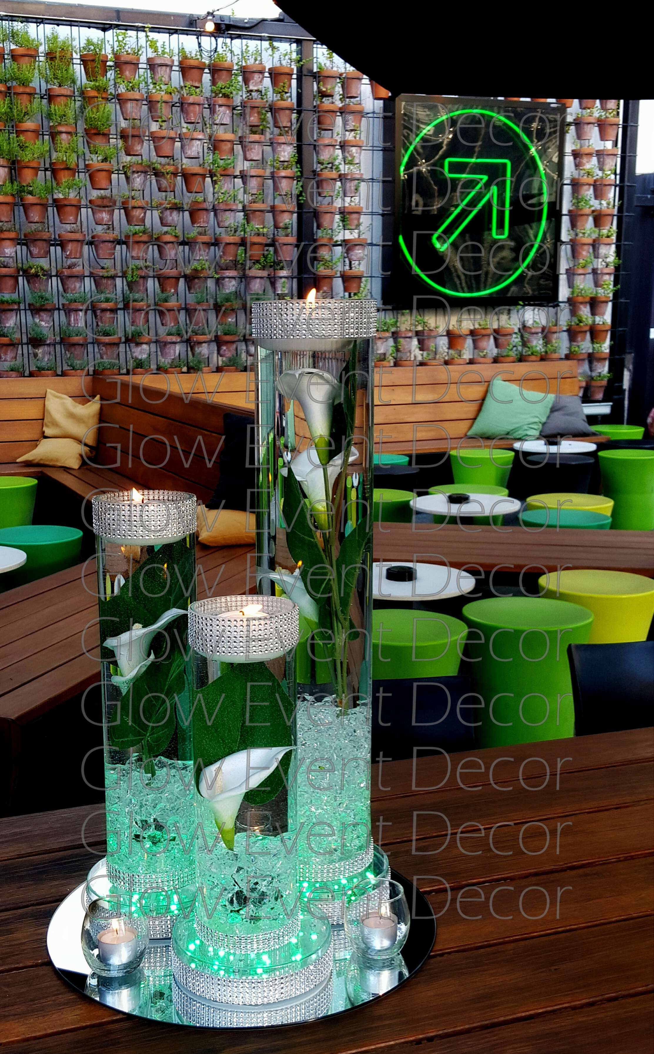 flower arrangements in cylinder vases of led orchid cylinder vase glow event decor inside trio of cylinder vases with floating candles submersible flowers for wedding bridal table centrepiece decorations