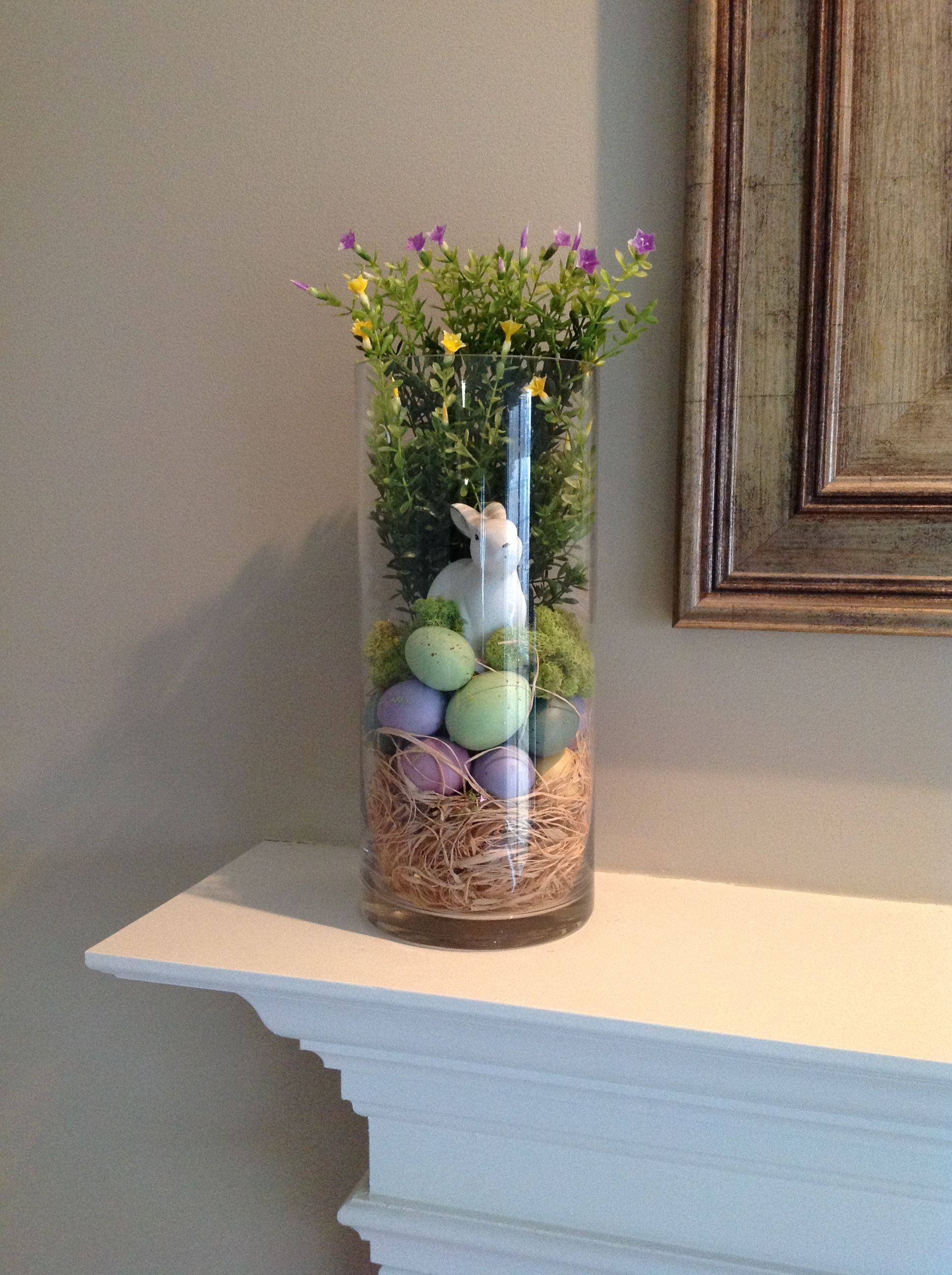 Flower Vase Filler Ideas Of Hurricane Glass Vase Filler for Spring and Easter On the Mantel with Hurricane Glass Vase Filler for Spring and Easter On the Mantel Lori Lubker Pin Easter Hurricane Rabbit