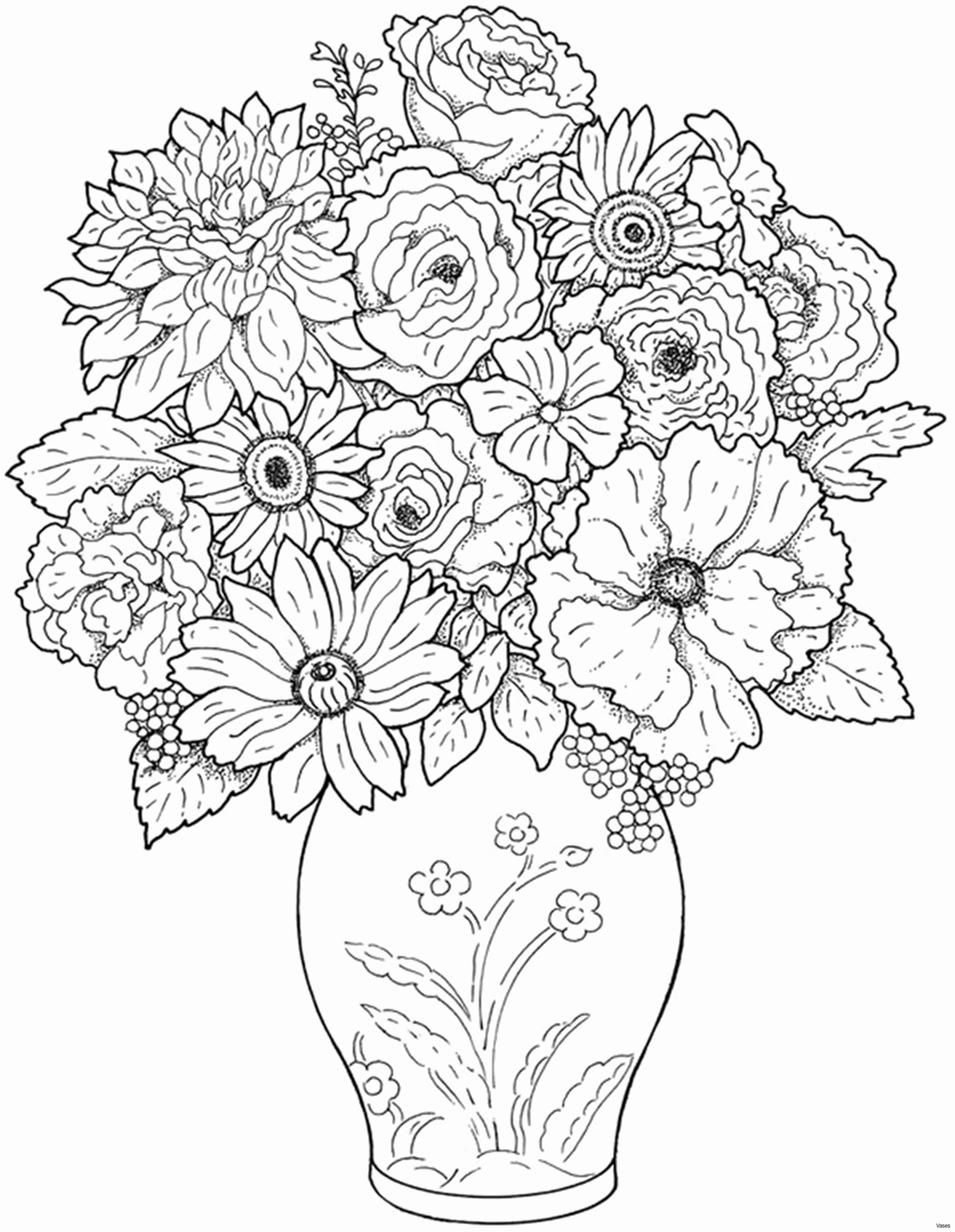 Flower Vase for Bedroom Of Printable Flower Vase Coloring Pages Almashriq Co Inside Printable Flower Vase Coloring Pages
