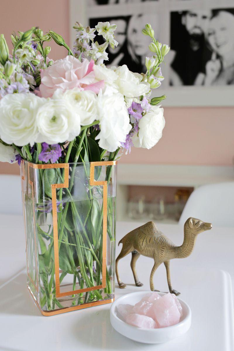 flower vase homemade of copper tape vase diy click through for tutorial whos house my in copper tape vase diy