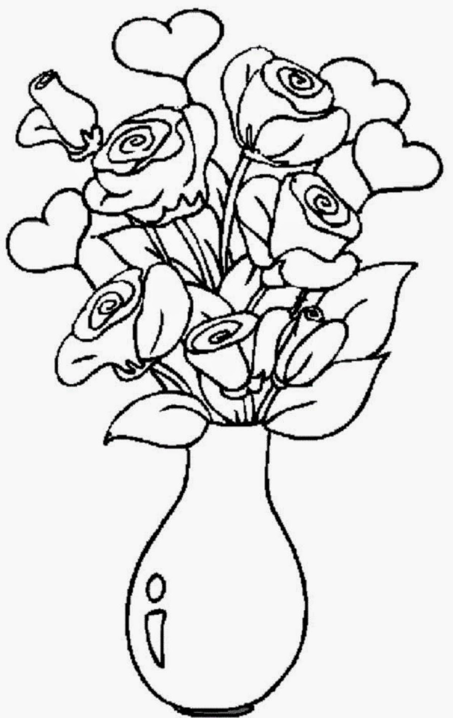 flower vase watercolor of best flower vase drawing and colouring drawing art and sketches inside best flower vase drawing and colouring colour drawing pictures of flowers at getdrawings free for