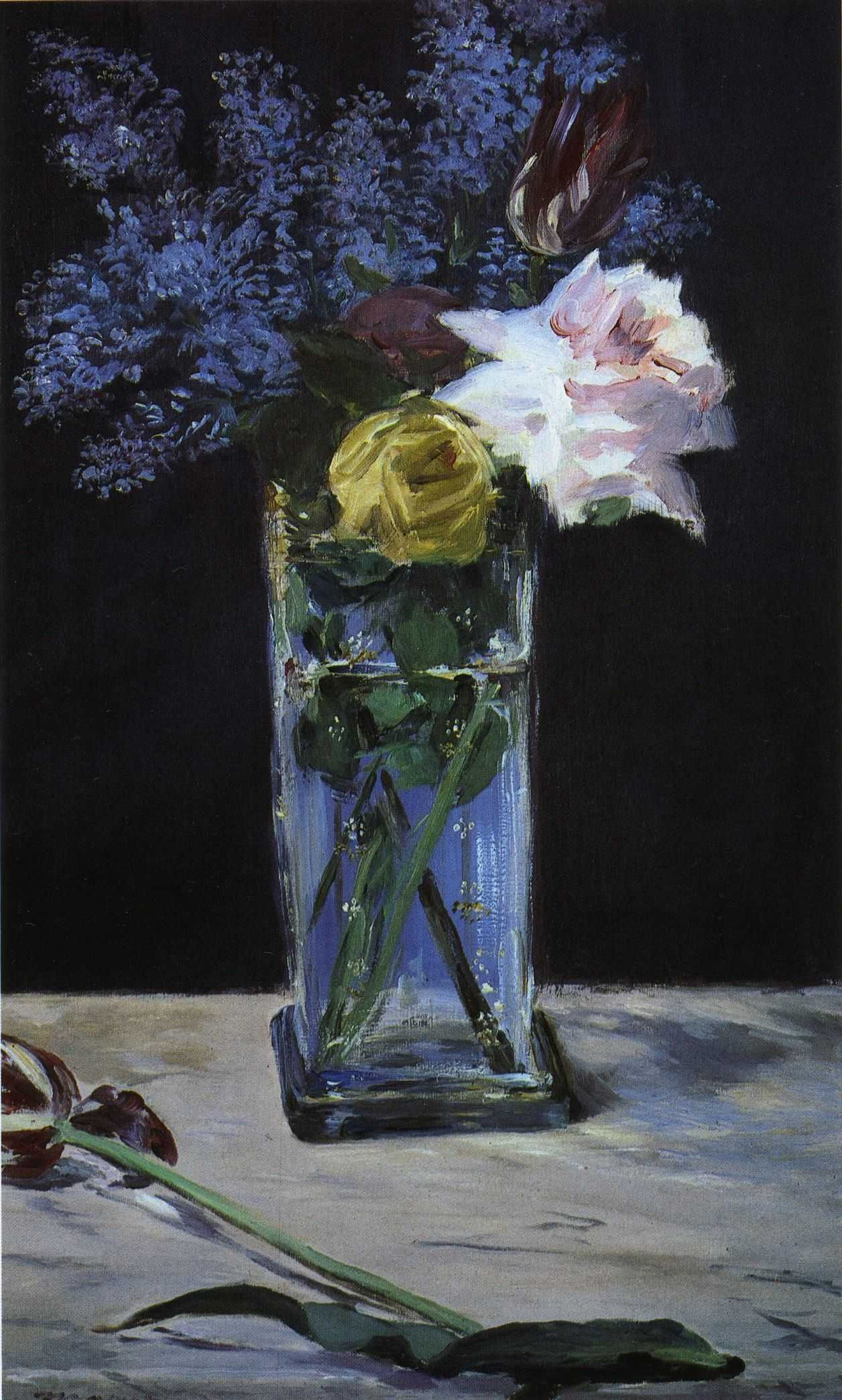 flower vase with umbrella hole of 24 types of vases for flowers the weekly world in file adouard manet roses tulips et lilas dans un vase de christal