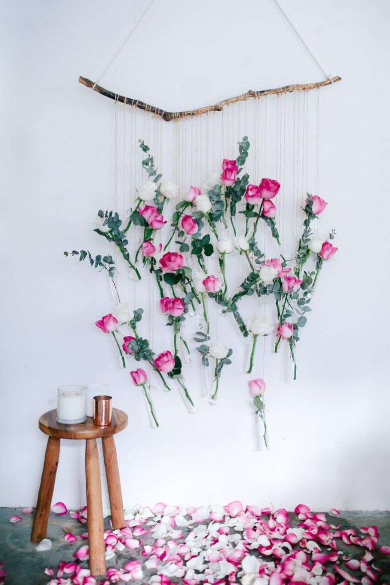 flower vases for niches of diy floral vase wall hanging using rose and eucalyptus rose inside diy floral vase wall hanging using rose and eucalyptus a pair a spare