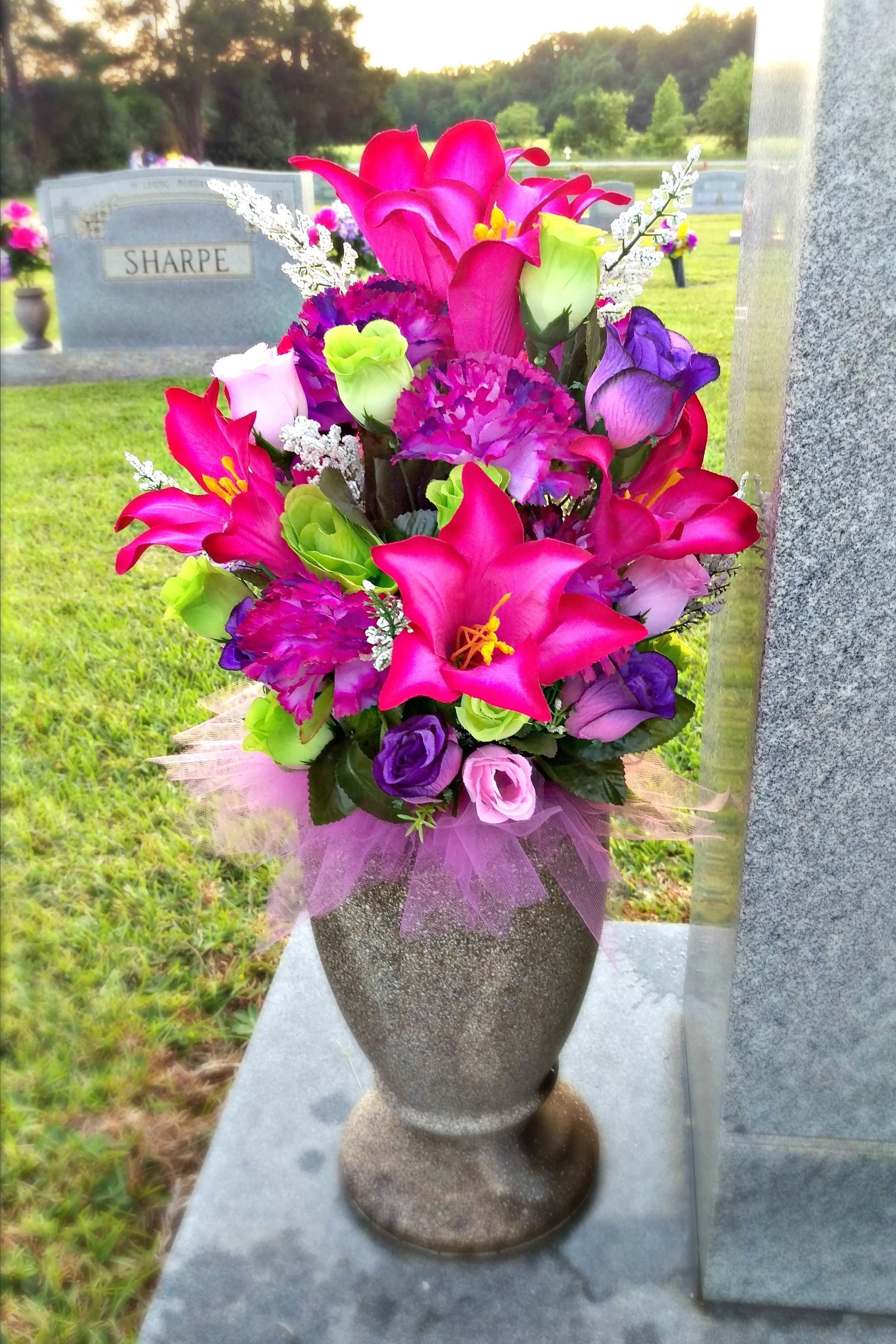 flowers for tombstone vase of stay in the vase cemetery flowers regarding spring summer cemetery vase arrangement
