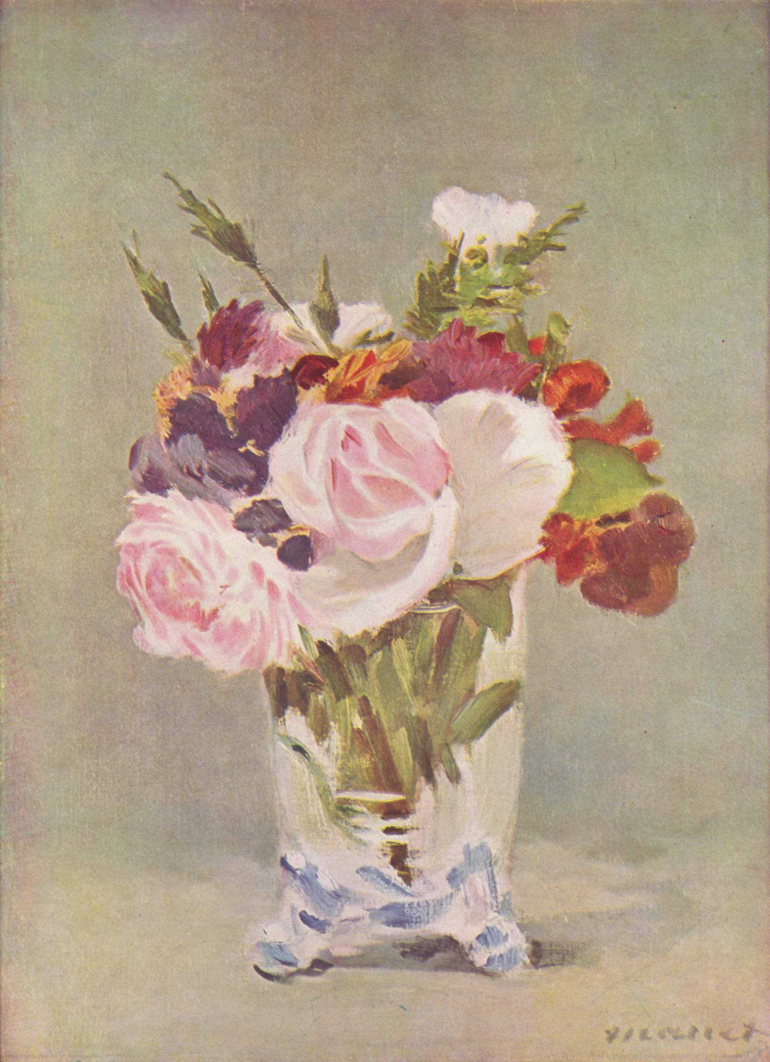flowers in a crystal vase manet of eugene manet on the isle of wight 1875 berthe morisot wikiart org intended for still life with flowers 1880