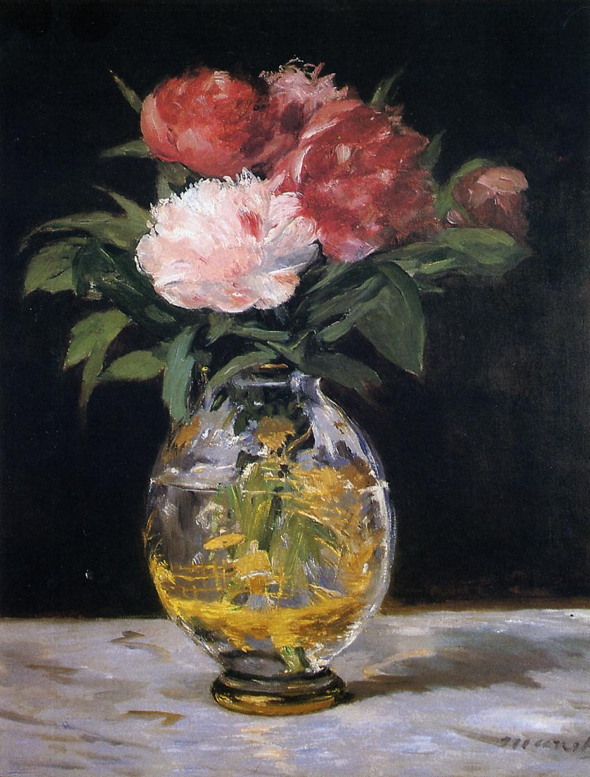 flowers in a crystal vase manet of eugene manet on the isle of wight 1875 berthe morisot wikiart org regarding bouquet of flowers 1882
