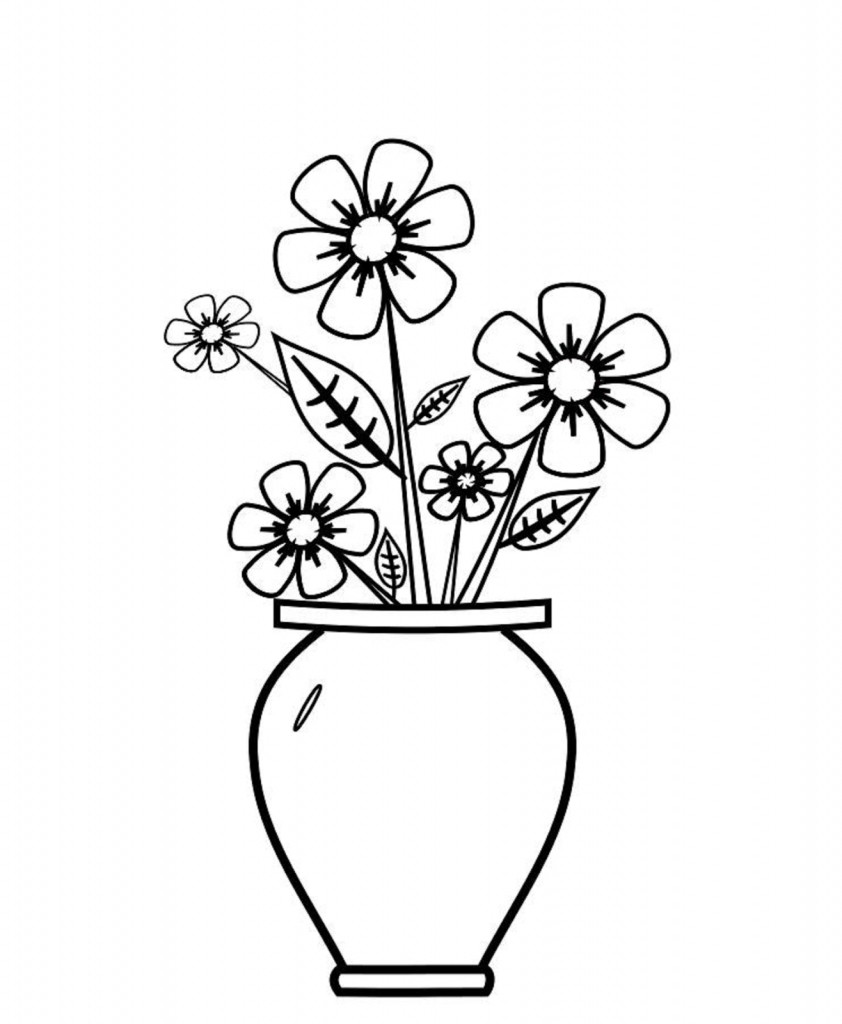 flowers in a vase 1866 of flowers in a vase sketch best vase decoration 2018 intended for coloring flower elegant vases sketch vase i 0d flowers design