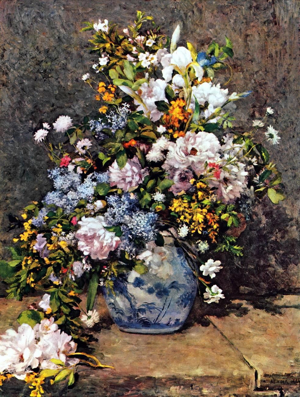 flowers in a vase 1866 of pierre auguste renoir 1841 1919 france grand vase de fleurs for pierre auguste renoir 1841 1919 france grand vase de fleurs 1866
