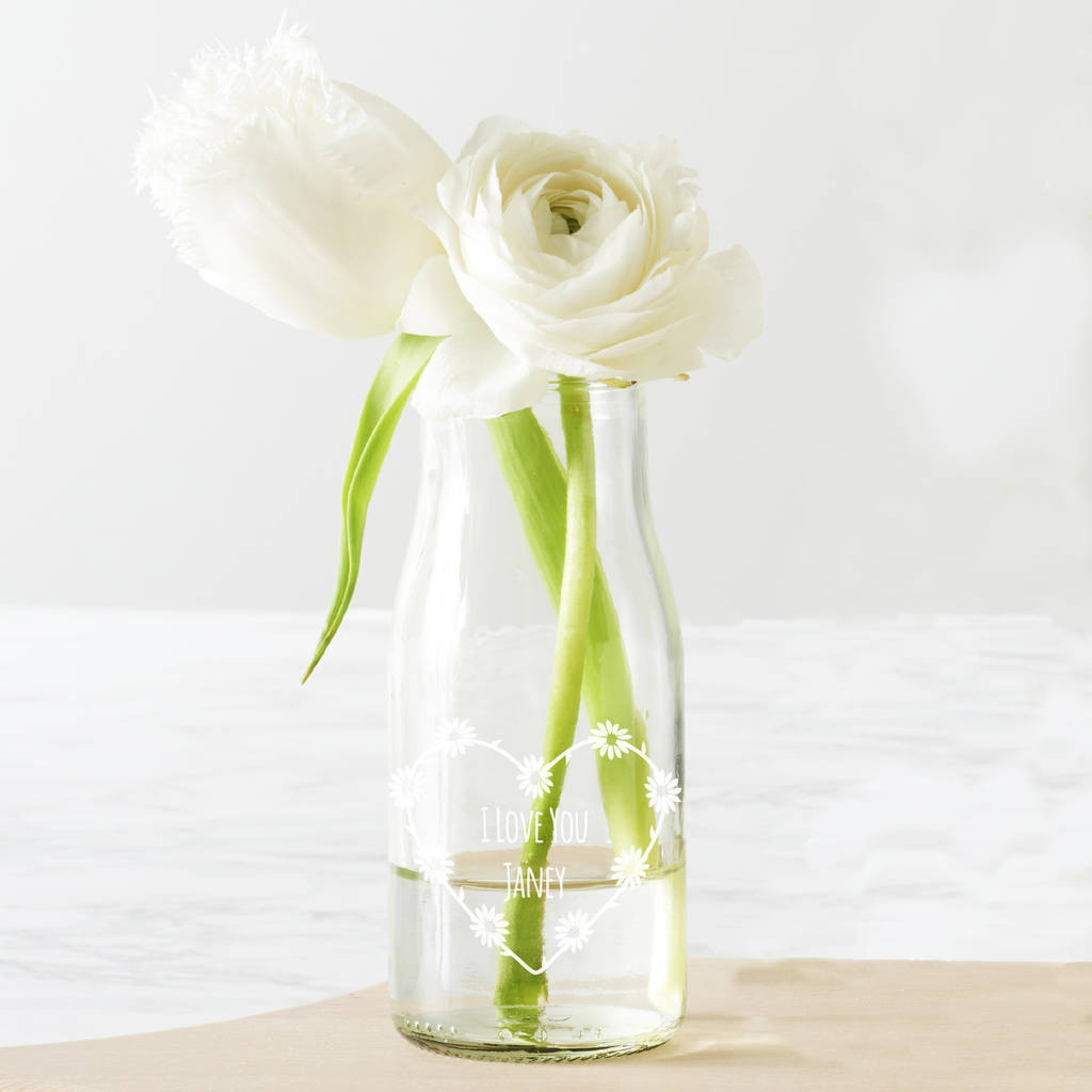 flowers in small vases of personalised daisy chain bottle bud vase by becky broome intended for personalised daisy chain bottle bud vase