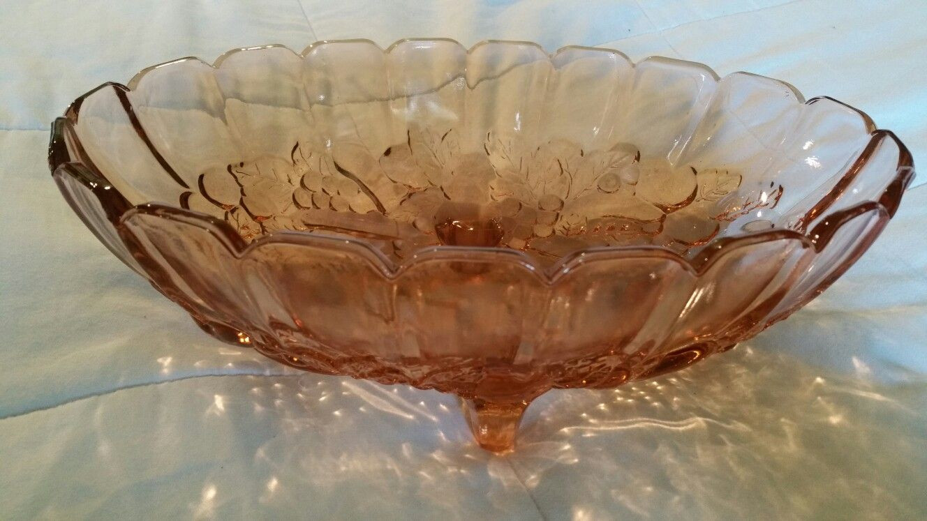 footed crystal vase of pink depression glass 12 5x8 5x4 4 footed fruit patterned fruit intended for pink depression glass 12 5x8 5x4 4 footed fruit patterned fruit bowl