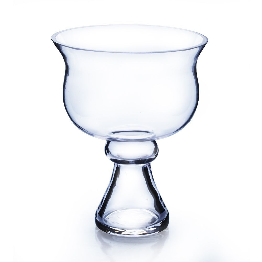 Footed Glass Hurricane Vase Of Clear Glass 8 Inch Tall Centerpiece Bowl On Stand 8 Products Regarding Clear Glass 8 Inch Tall Centerpiece Bowl On Stand 8