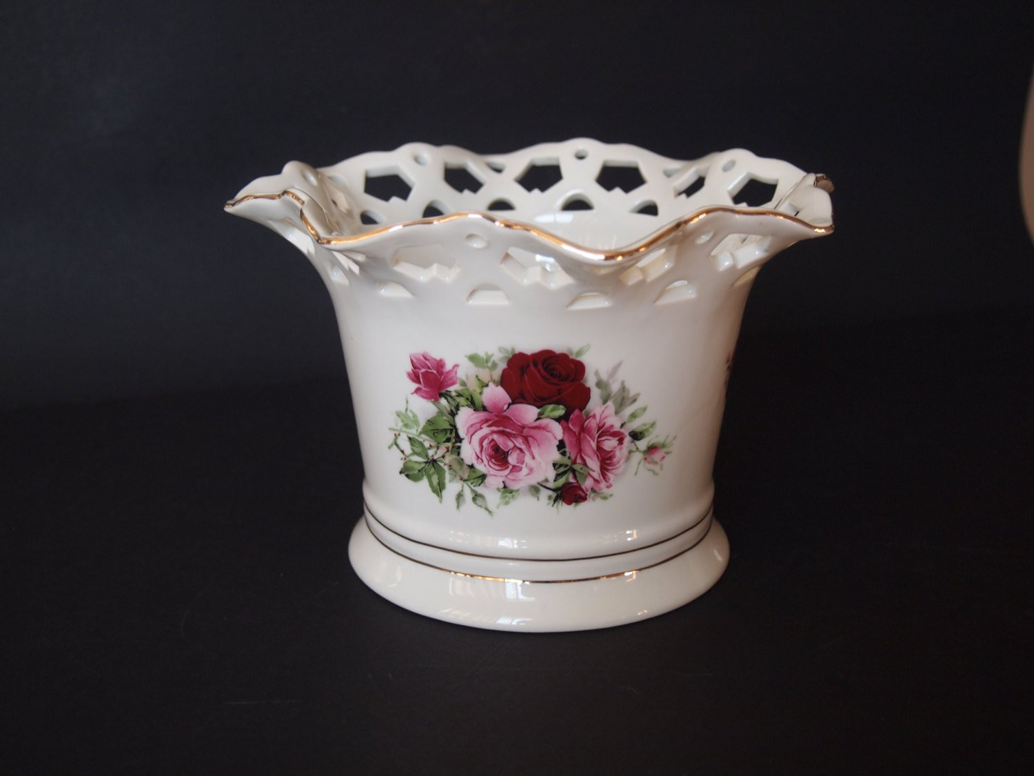 "formalities by baum bros rose vase of formalities by baum bros cut out bowl victorian rose etsy throughout dŸ""Žpowia™ksz"