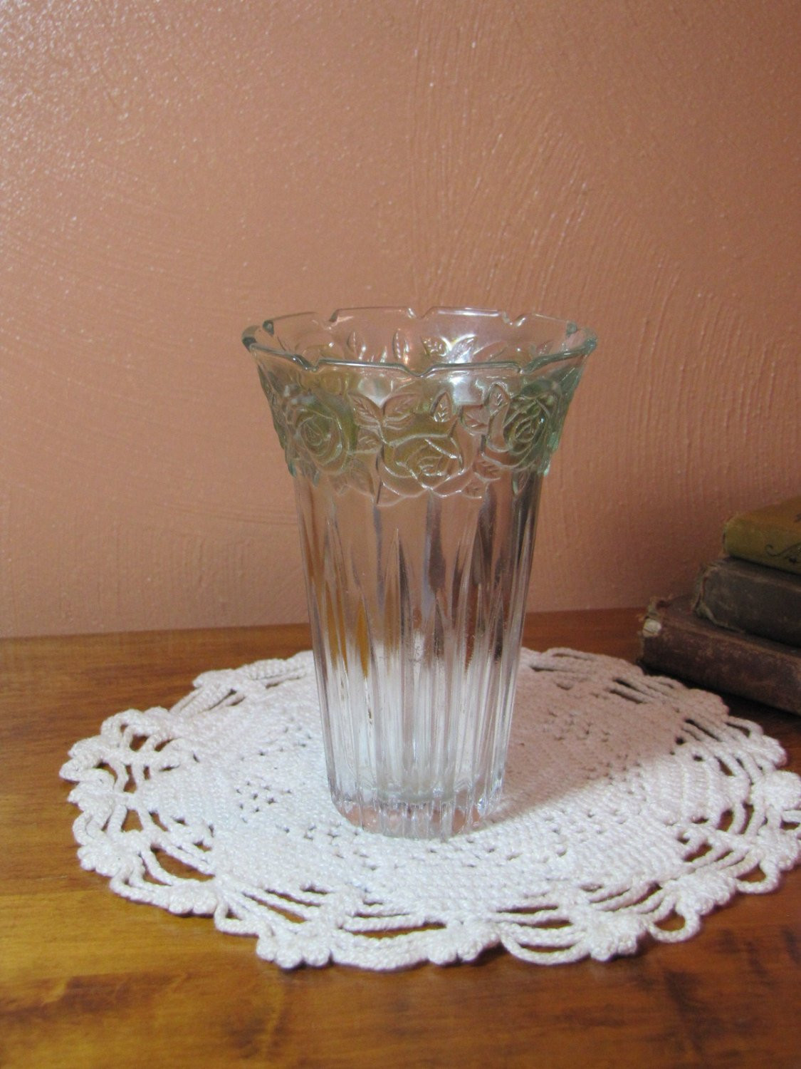 "formalities by baum bros rose vase of vintage parka glass vase etsy in dŸ""Žzoom"