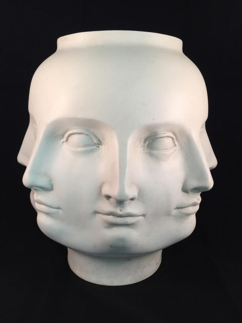 fornasetti perpetual face vase of perpetual face vase tms vase and cellar image avorcor com within tms 2005 white perpetual face vase planter adler fornasetti dora