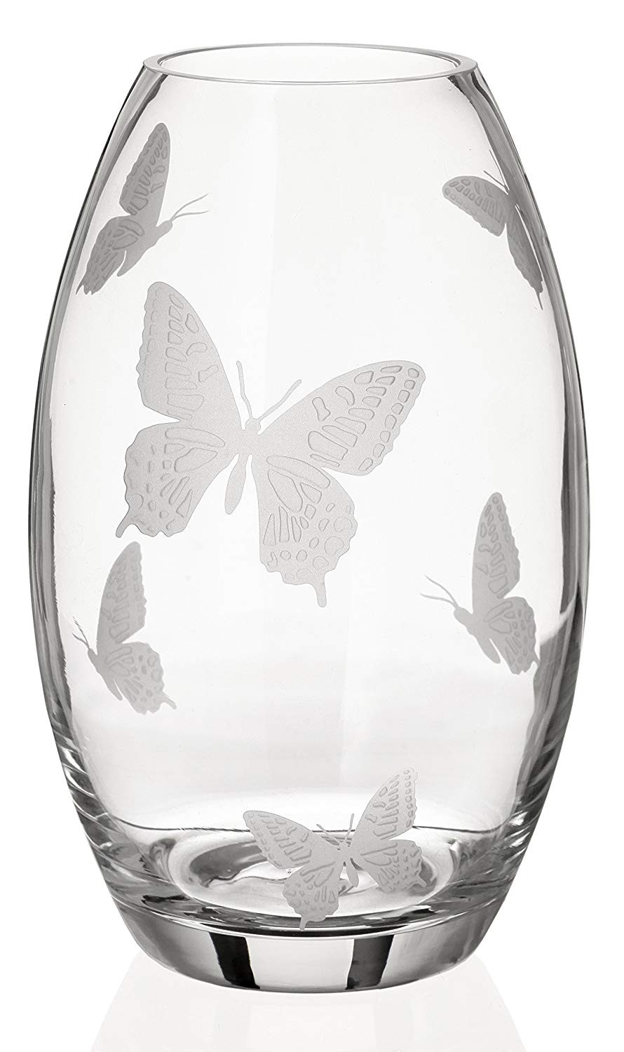 franz porcelain butterfly vase of amazon com annas exclusive decor butterfly vase luxury hand pertaining to amazon com annas exclusive decor butterfly vase luxury hand blown glass vase with sandblasted butterflies premium lead free glass clear