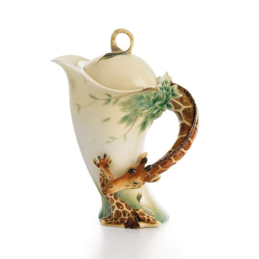 franz porcelain butterfly vase of amazon com franz porcelain inside franz porcelain endless beauty giraffe design sculptured porcelain teapot