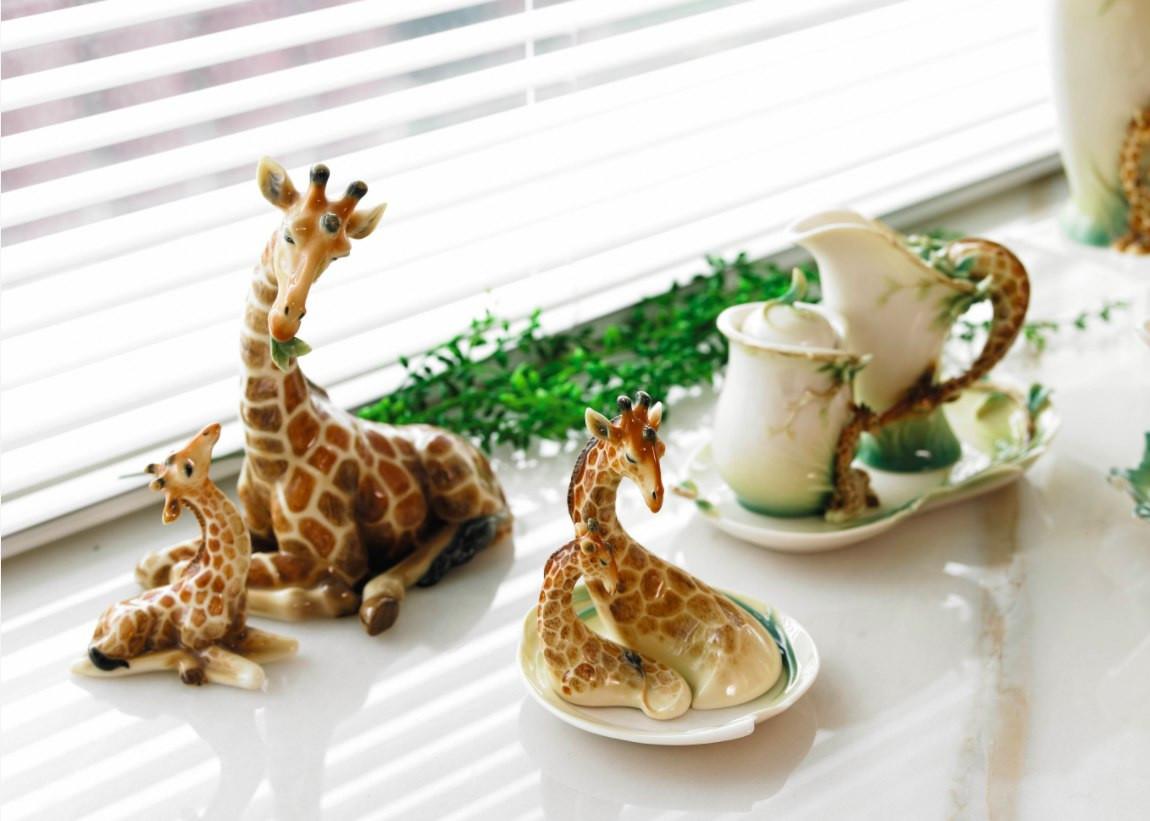 franz porcelain butterfly vase of giraffe mother figurine sculpture franz porcelain within giraffe mother figurine franz porcelain fs00478