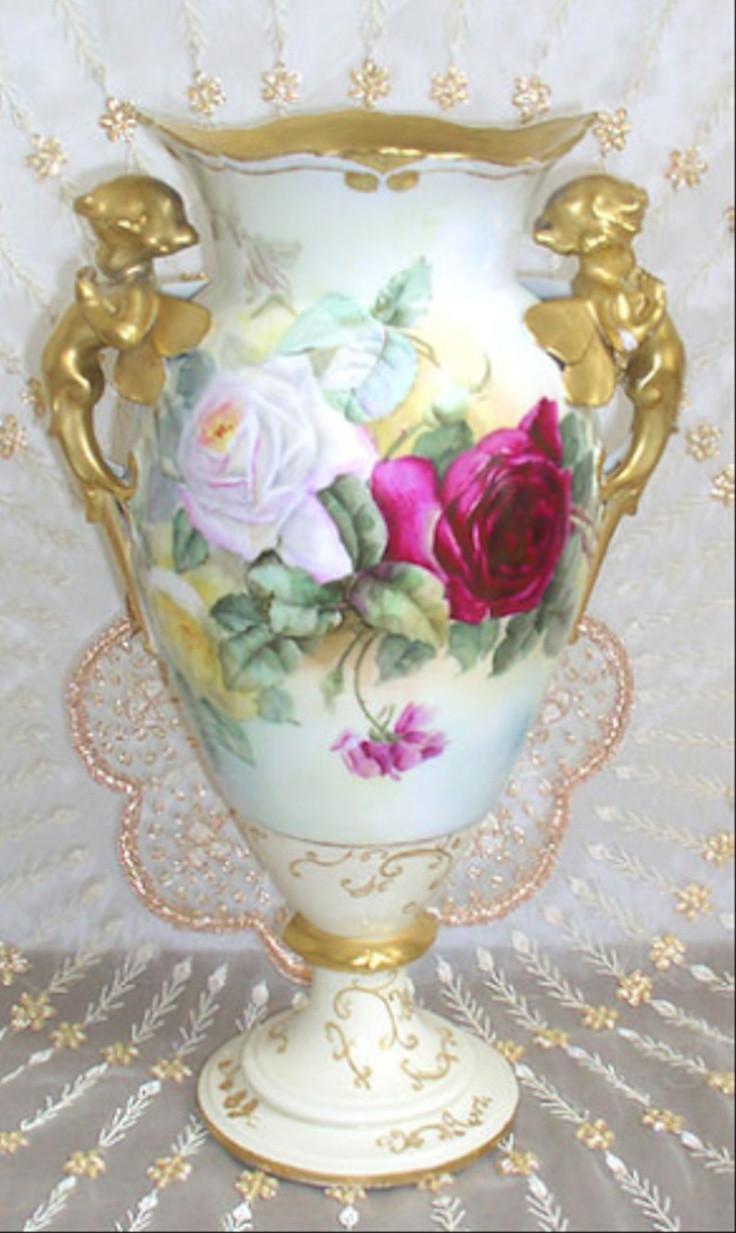 franz porcelain hummingbird vase of 374 best porcelain and mosaic art images on pinterest glass art within limoges cherub vase