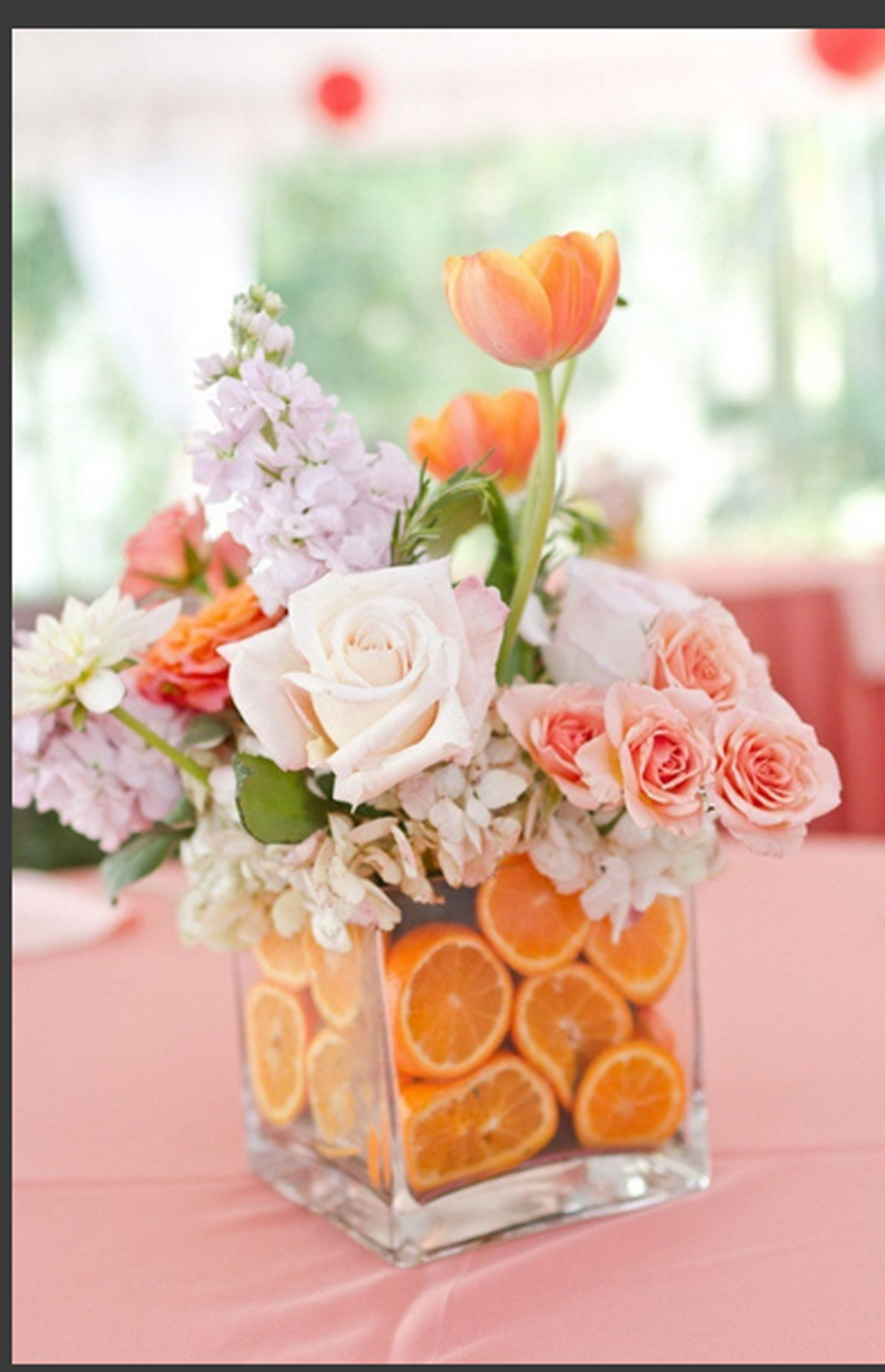 Fruit Vase Centerpiece Of orange Wedding Blommor Pinterest Flower Arrangements Flowers Regarding since the Traditional Wedding Anniversary Gift is Fruit and Flowers Wouldnt This Be Great or Maybe A Fruit Of the Month for Him and Flower Of the Month