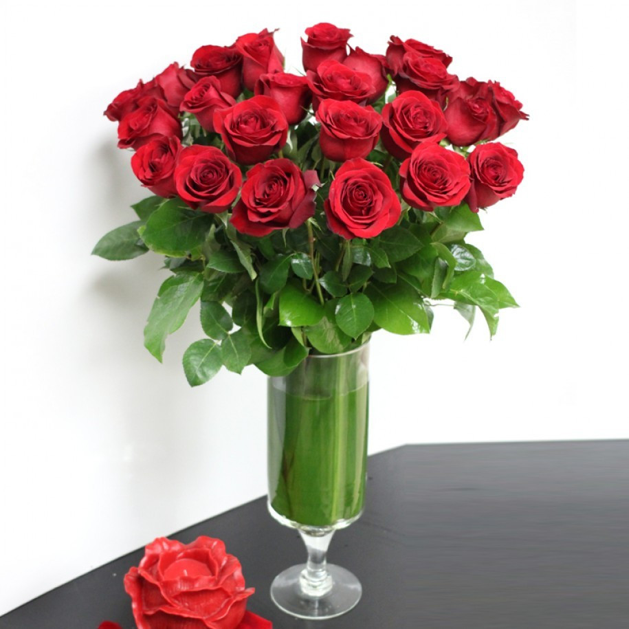 Ftd Cross Vase Of San Diego Florist Flower Delivery by Point Loma Village Florist Pertaining to Two Dozen Roses