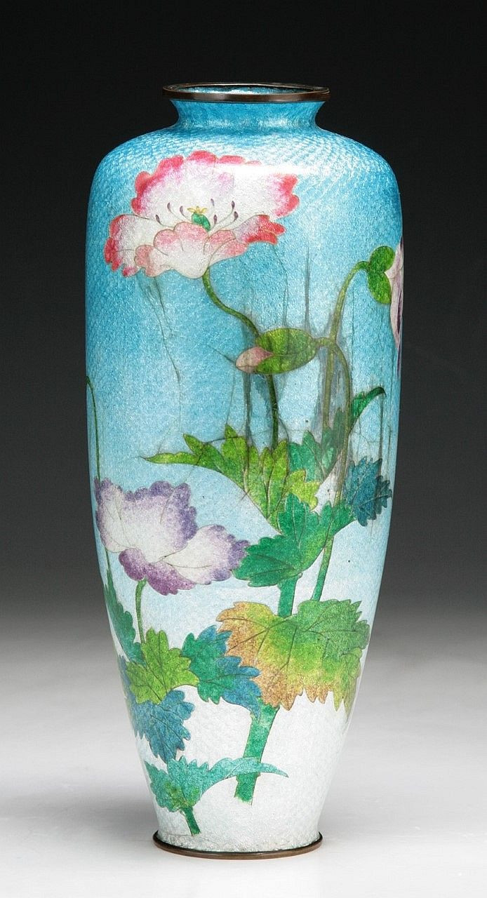 fukagawa porcelain vase of a japanese antique silver ando cloisonne vase dimensions h 9 3 4 throughout a japanese antique silver ando cloisonne vase dimensions h 9 3 4