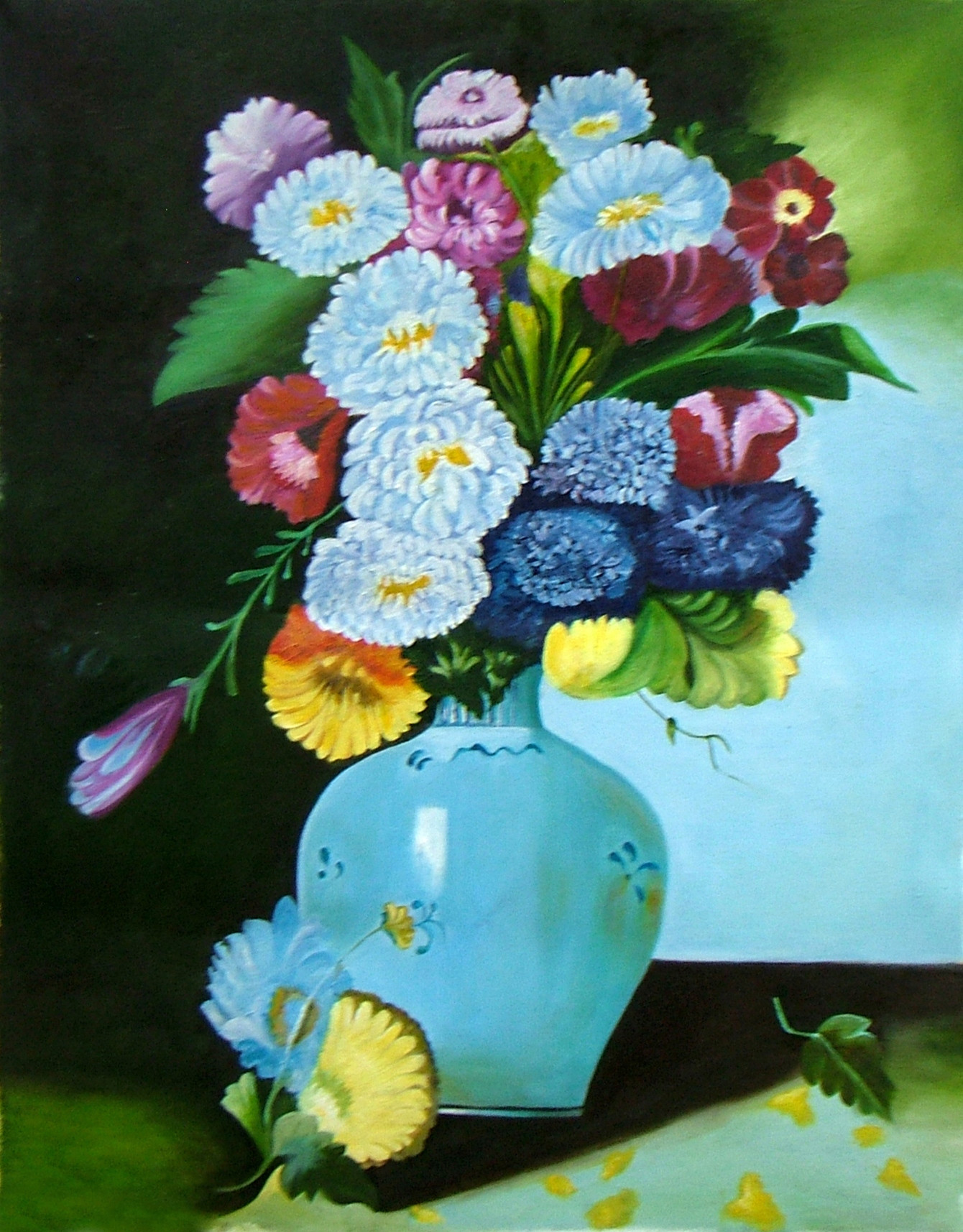 galaxy art glass vase of 25 luxury flower vase painting watercolor flower decoration ideas throughout flower vase painting watercolor lovely floral galaxy oil painting 2015 by neeraj parswal